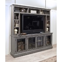 Rustic Gray 2 Piece Modern Entertainment Center - Churchill