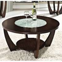 Modern Brown Round Coffee Table - Rafael