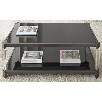 Contemporary Black Coffee Table - Newton