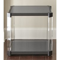 Contemporary Black End Table - Newton