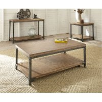 Industrial Honey Brown Coffee Table - Lantana