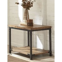 Industrial Honey Brown End Table - Lantana