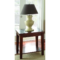 Transitional Slate Top Brown End Table - Davenport