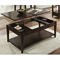 Traditional Dark Brown Lift Top Coffee Table - Crestline