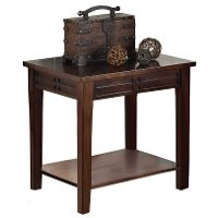 Traditional Dark Brown End Table - Crestline