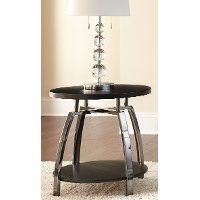 Contemporary Black End Table - Coham
