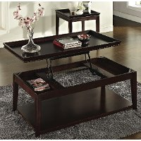 Cherry Brown Lift Top Coffee Table - Clemson