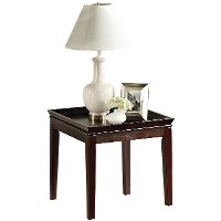 Contemporary Cherry Brown End Table - Clemson