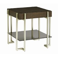 Dark Truffle Brown Modern End Table - Arkell