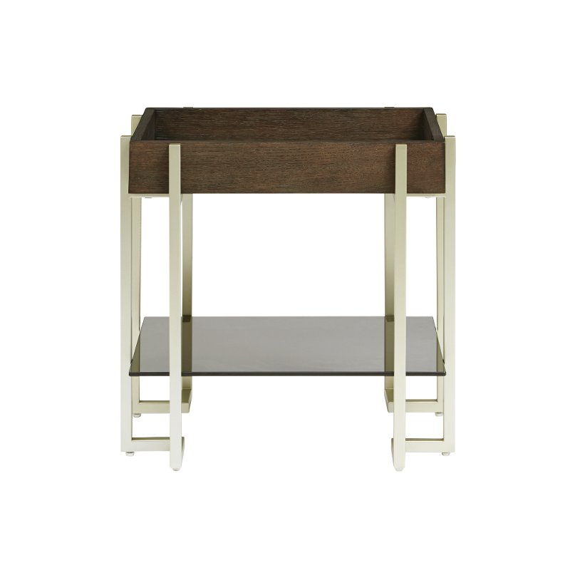 Dark Truffle Brown Small End Table - Arkell