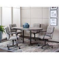 Graphite Gray 5 Piece Oval Dining Set - Timber