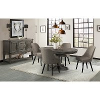 Pewter Barrel 5 Piece Dining Set - Foundry
