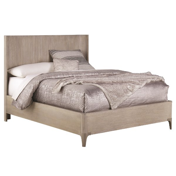 44126142a6 Clearance Modern Frosted Ash Queen Platform Bed - Alexandra
