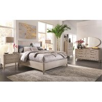 Modern Frosted Ash 4 Piece Queen Bedroom Set - Alexandra