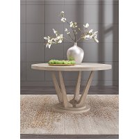 Modern Frosted Ash Round Dining Table - Alexandra
