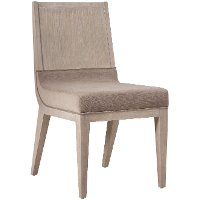 Modern Frosted Ash Upholstered Dining Chair - Alexandra