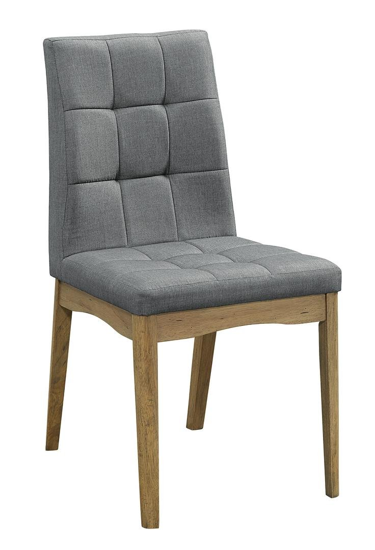 mid century modern oak gray upholstered dining chair barcelona - Contemporary Oak Dining Table