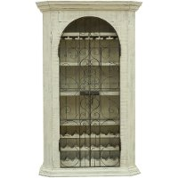 FSI-FER-33ARM/ARMOIR Traditional Antique White Wine Armoire - French
