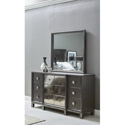 Contemporary Black and Nickel Dresser - Radiance Space