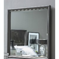 Contemporary Black and Nickel Mirror - Radiance Space
