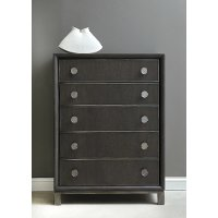 Contemporary Black and Nickel Chest of Drawers - Radiance Space