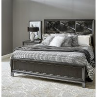 Contemporary Black Nickel Queen Size Bed - Radiance Space