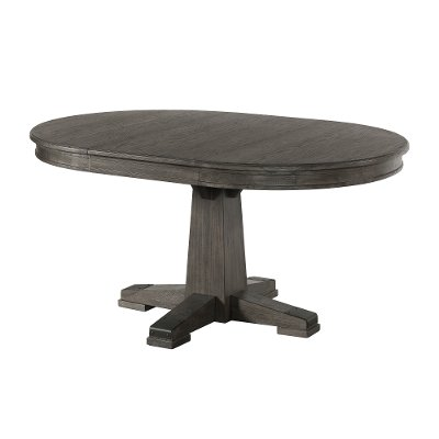 Pewter Brown Round Dining Table - Foundry