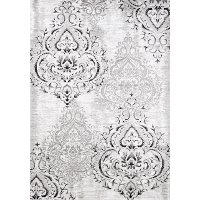 3 x 5 Small Elegant White and Gray Area Rug - Platinum