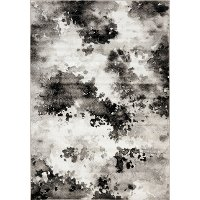 4 x 6 Small Gray and White Distressed Area Rug - Platinum