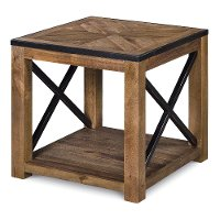 Transitional Medium Brown End Table - Penderton