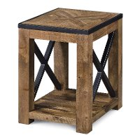 Transitional Medium Brown Small End Table - Penderton