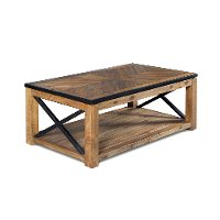Transitional Medium Brown Lift Top Coffee Table - Penderton