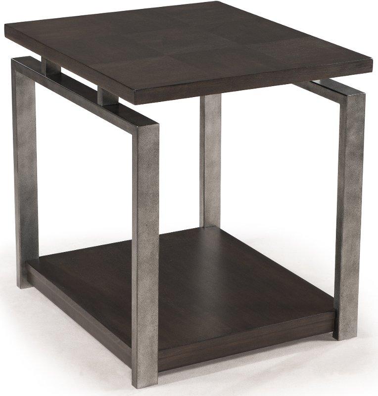 Contemporary Sleek Black End Table - Alton