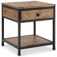 Vintage Brown End Table - Maguire