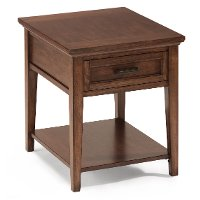 Toffee Brown End Table - Harbor Bay