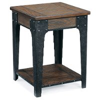 Rugged and Rustic Brown End Table - Lakehurst