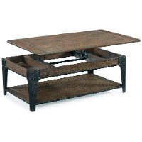 Rugged and Rustic Brown Lift Top Coffee Table - Lakehurst