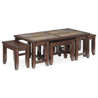 Antique Brown Coffee Table - Allister