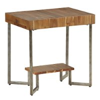 Natural Wood Grain Small End Table - Dawson