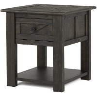 Transitional Black End Table - Garrett