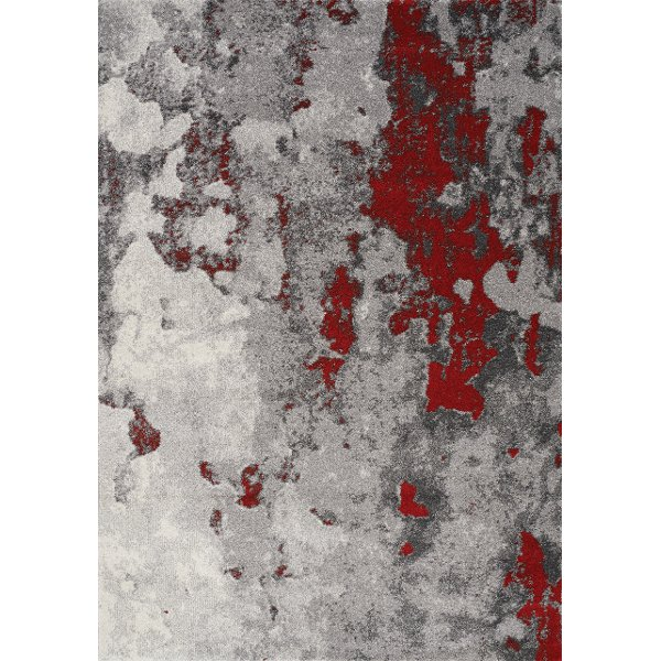 ... 2 X 4 X Small Gray And Red Distressed Area Rug   Freemont