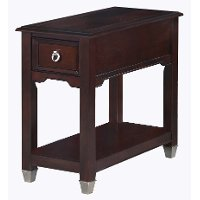 Transitional Narrow Dark Brown End Table - Darien