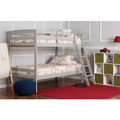 White Metal Twin Over Full Bunk Bed Rc Willey Furniture Store
