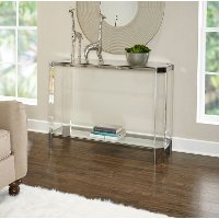 Glass Sofa Table (48 Inch) - Brahm