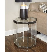 Glass End Table - Brahm