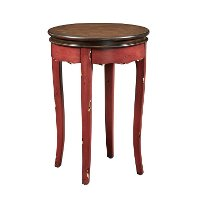 Red Round End Table - Rachel