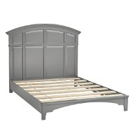 Classic Gray Convertible Full Size Bed Rails - Brooklyn