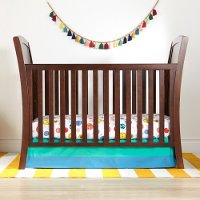 Contemporary Brown 3-in-1 Convertible Crib - Elise