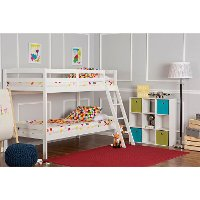 White Twin-over-Twin Bunk Bed - Taylor