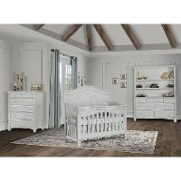 88261-AM Antique Gray 5-in-1 Convertible Crib - Cheyenne